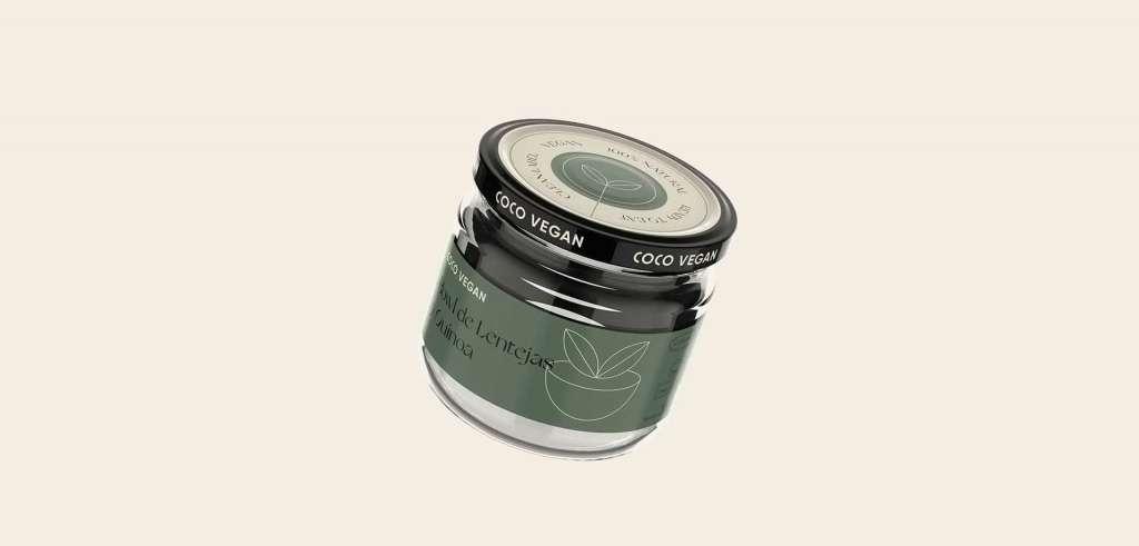 Diseño de identidad y packaging para Coco Vegan, marca de productos valenciana veganos y listos para comer.