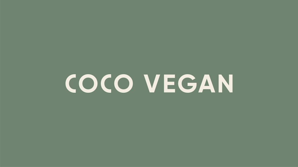Identity and packaging for Coco Vegan